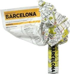 Mapa crumpled city barcelona