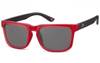 Nerdy okulary przeciwsłoneczne montana s26c czarno-czerwone
