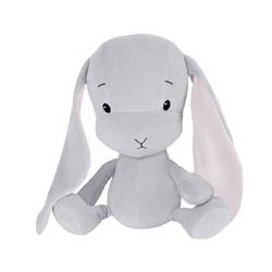 Effiki królik effik szary, różowe uszy s 20 cm
