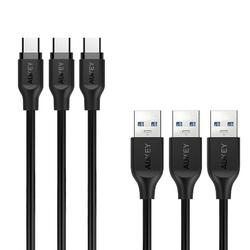 Aukey cb-cmd3 zestaw 3 szt. szybkich kabli quick charge usb c-usb 3.0 | 3 x 1m