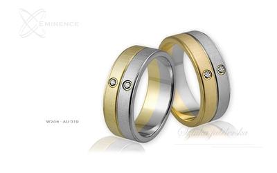 Obrączki ślubne - wzór au-319