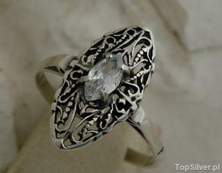 Avila - srebrny pierścionek z kryształem swarovskiego