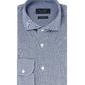 Elegancka niebieska koszula męska z dzianiny slim fit 46