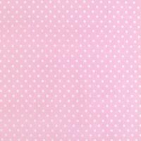 Tkanina dekoracyjna w kropeczki 1x1,4 m - różowy - różowy