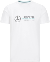 Koszulka mercedes amg petronas f1 logo biała - biały