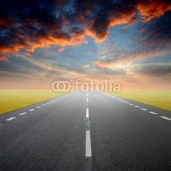 Obraz na płótnie canvas dwuczęściowy dyptyk droga