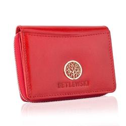 Stylowy damski portfel betlewski bpd-sb-20 czerwony