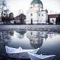 Warszawa nowe miasto - plakat premium wymiar do wyboru: 42x59,4 cm