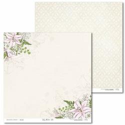 Ozdobny papier Lily Flower 30,5x30,5 cm - 01 - 01