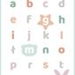 Słodki alfabet miętowy - plakat wymiar do wyboru: 21x29,7 cm