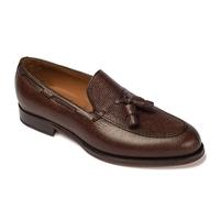 Brązowe loafery a.leyva z groszkowej skóry 6,5