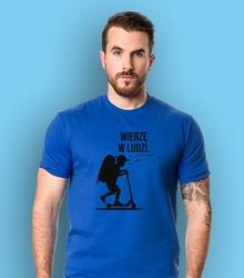 Chłopak - wierzę w ludzi t-shirt męski niebieski s