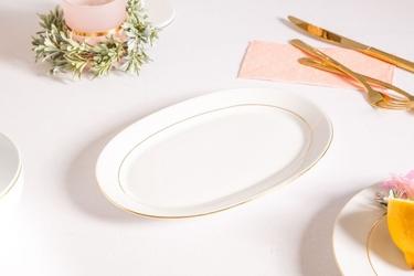Rawier  półmisek owalny porcelana mariapaula złota linia 23 cm