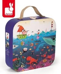Puzzle w walizce podwodny świat 100 elementów