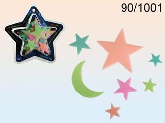 Fluorescencyjne kolorowe gwiazdki glow