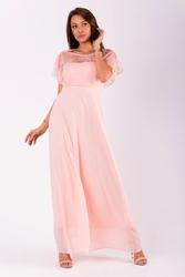 Evalola sukienka pudrowy róż 51007-2