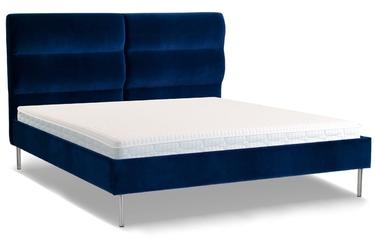 Łóżko forsythian 140x200 welurowe  deluxe - welur łatwozmywalny siena