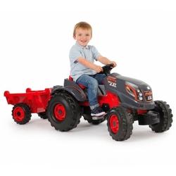 Smoby farmer xxl czerwony duży traktor na pedały przyczepka