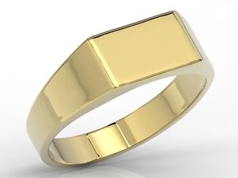 Sygnet z żółtego złota sj-25z - wysyłka w następny dzień roboczy - sprawdź dostępność