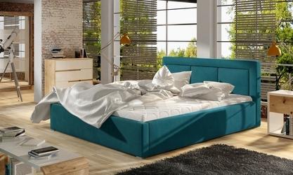 Welurowe łoże sypialniane noell 200 z metalowym stelażem