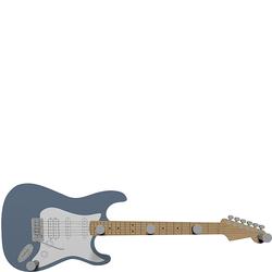 Wieszak ścienny Guitar CalleaDesign niebieski 13-006-44