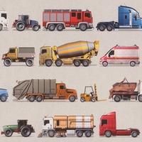 Tapeta pojazdy samochody ciężarówki 293906 kidsamp;teens ii