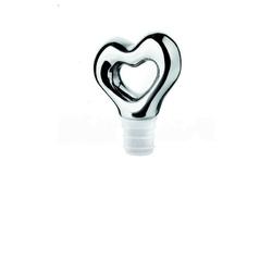 Guzzini - love - zatyczka do butelki, chrom - srebrny