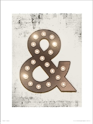 Ampersand lights - plakat premium