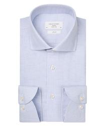 Biała koszula podróżna profuomo w mikro wzór slim fit 37