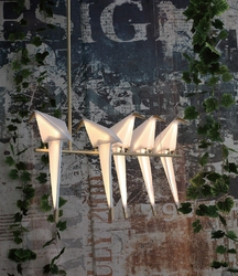 Lampa wisząca z kloszami z polipropylenu loro 5