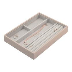 Pudełko na biżuterię 4 komorowe classic Stackers jasnoróżowe