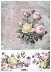 Papier ryżowy ITD A4 R991 róże bukiet