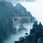 Obraz chiny huangshan śnieg