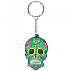 Meksykańska czaszka zielona - breloczek do kluczy