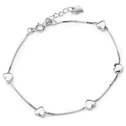 Staviori bransoleta 18cm. srebro 0,925.  długość regulowana 18cm - 20cm.  piękna bransoletka srebrna z serduszkami. możliwość regulacji długości. idealna na prezent.