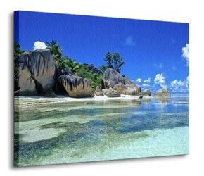 Seszele, plaża - obraz na płótnie