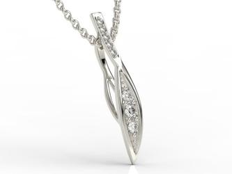 Wisiorek z białego złota z diamentami apw-97b - białe  diament