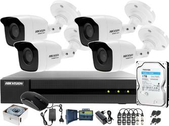 Zestaw monitoringu po skrętce utp full hd hwd-6104mh-g2 4 x hwt-b120-m 1tb samodzielny montaż
