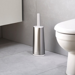 Szczotka elastyczna do wc flex joseph joseph stalowo-biała 70517