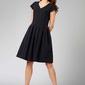 Czarna ponadczasowa sukienka z układanym dołem