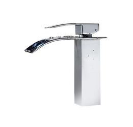 Bateria umywalkowa łazienkowa chrom wodospad