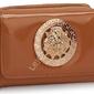 Karmelowy portfel z greckimi wzorami ala versace