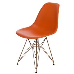 Krzesło p016 pp gold pomarańczowe - pomarańczowy