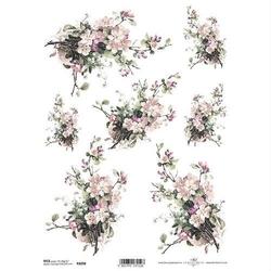 Papier ryżowy ITD A4 R1098 kwiaty bukiet
