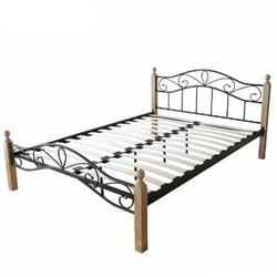 Łóżko metalowe podwójne 140 x 200 cm, stelaż