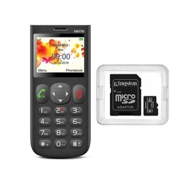 Zestaw telefon dla seniora  microsd 32 gb