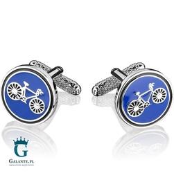 Spinki do mankietów niebieskie rower kc-974 onyx-art london