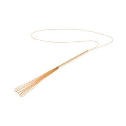 Sexshop - niezwykła ozdoba wisiorek pejcz - bijoux indiscrets magnifique whip necklace złoty - online