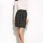 Czarnakratka mini spódnica w stylu casual
