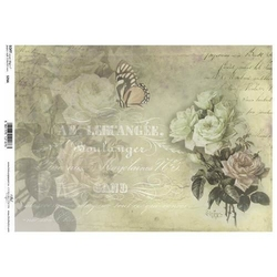 Papier soft itd a4 s266 róże napisy vintage - 266